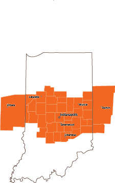 Central Indiana Claims Service Area