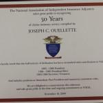 Joe Ouellette - Celebrating 50 Years as a Member of the NAIIA